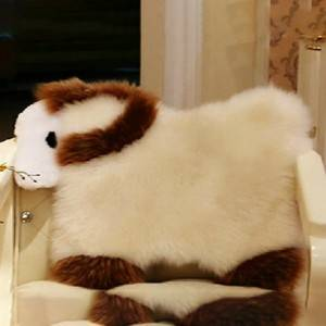 Genuine Lambskin Sheepskin Long Wool animal shape Cushions