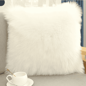 Genuine sheepskin shearling long wool pillows
