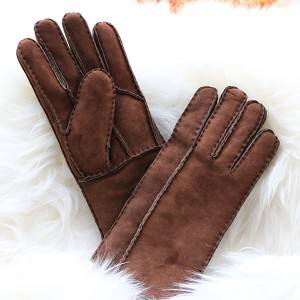 Pieces suede lambskin/sheepskin gloves