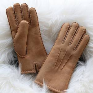 Classical Ladies handsewn double faced sheepskin shearling gloves