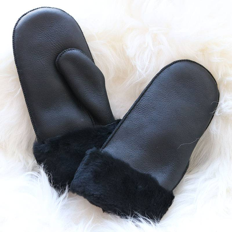 Napa shearling sheepskin lambskin mittens Featured Image