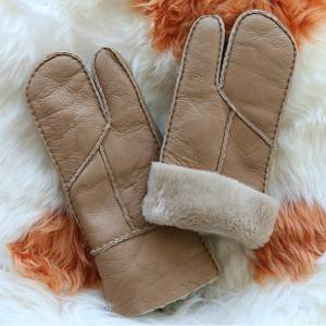 Pieces napa shearling sheepskin gloves