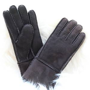 Pieces/patch suede lambskin/sheepskin searling gloves