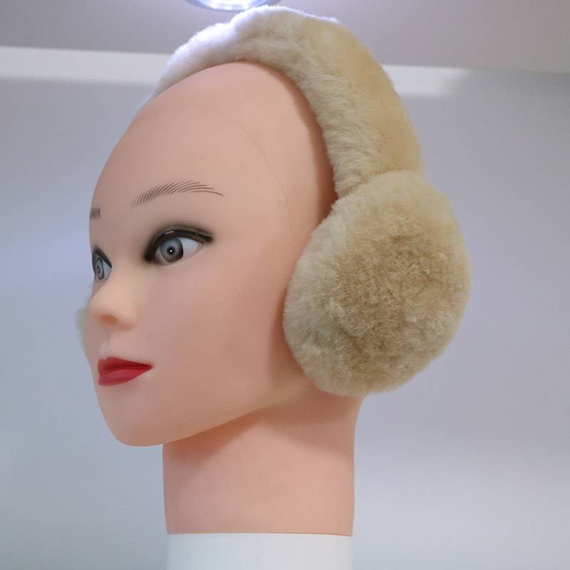 Real double faced sheep shearling earmuff Featured Image