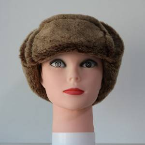 Unisex Leather Aviator Sheepskin Hats