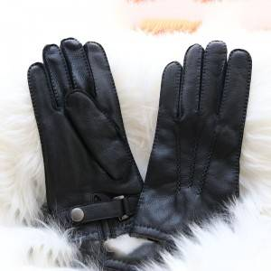 casual handsewn deerskin gloves with three points