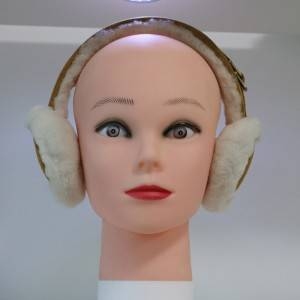 genuine sheep shearling fur earmuff