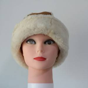 ladies luxury sheepskin hats with wool out trim detail