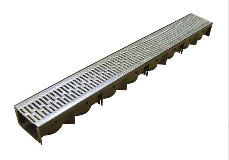 Polypropylene Drainage Channel with Galvanized Steel Grate