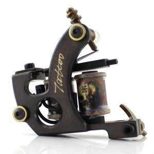Professional Copper Tattoo Coil Machine Gun CNC Carved Brass Handmade Tattoo Machines