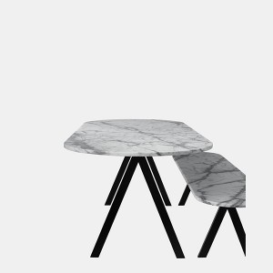 Stone table top for dining room table set