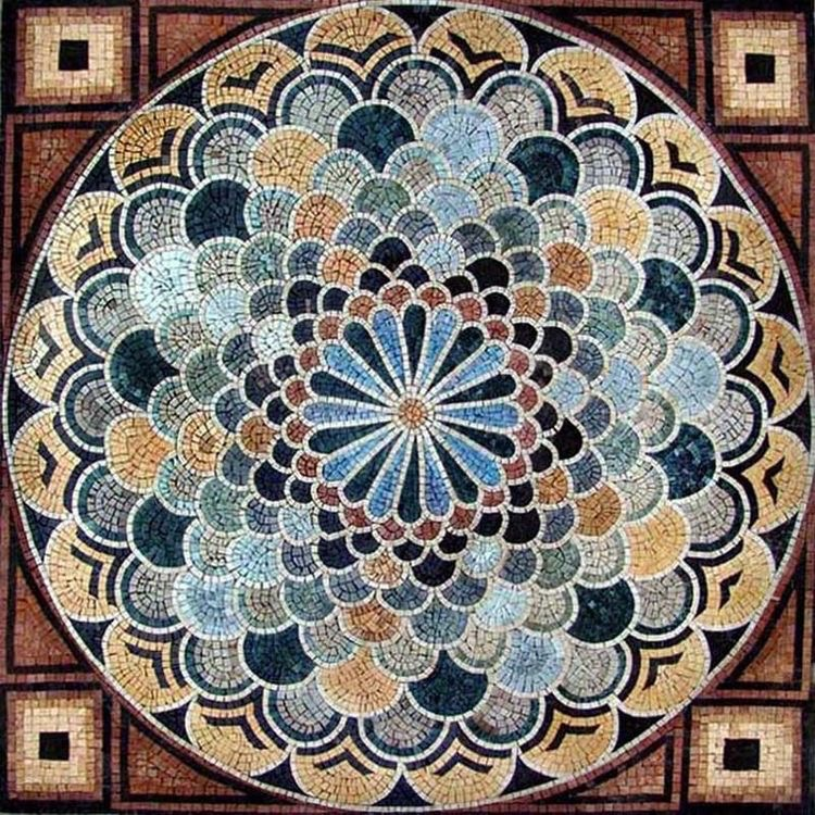 art mosaic scenery and structure