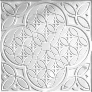 White Sivec Exotic style pattern 3D carved wall