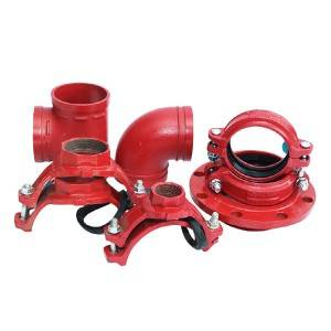 Ductile iron grooved pipe fittings and couplings/ joint / clamp/ mechanical tee/ threaded mechanical tee