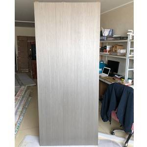 Solid wood composite baking varnish for flat door