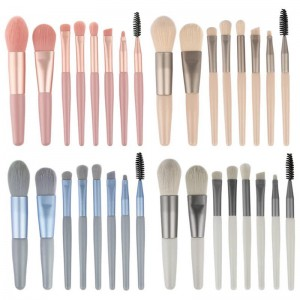 Makeup Brushes Brush Set Premium Synthetic Foundation Brush Makeup Brush Set Blending Face Powder Blush Concealers Eye Shadows Make Up Brushes Kit 8 PCS