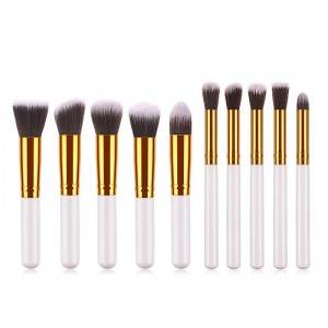10pcs Small Eyeshadow Brush Set pointed Round Head Makeup Brush Tool