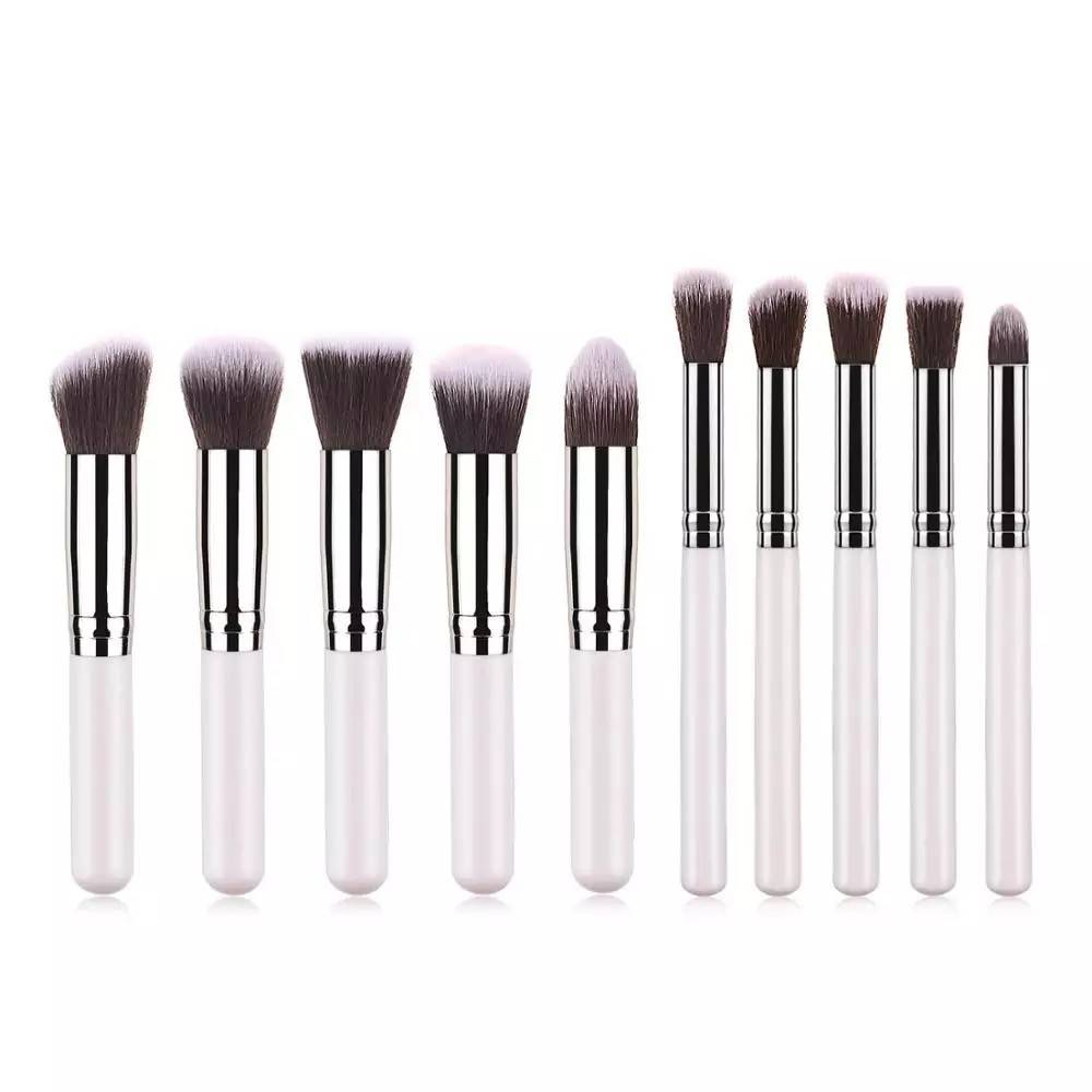 10pcs Small Eyeshadow Brush Set pointed Round Head Makeup Brush Tool Featured Image
