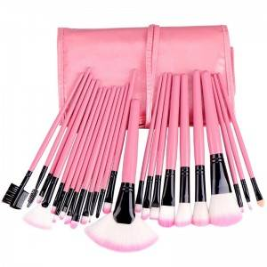 Private Label Wooden handle 24pcs professional makeup brushes set for beauty brushes