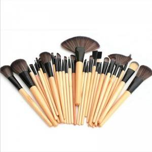 Professional 24pcs Makeup Brushes Set Pro Cosmetic Makeup Brush Set Kit With Leather Case
