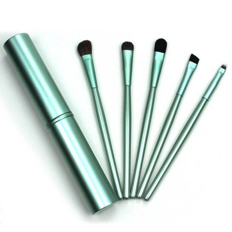Wholesale Custom 5Pcs Premium Travel Portable mini makeup brush set eye shadow Eyeliner Eyebrow lip make up brush set Featured Image
