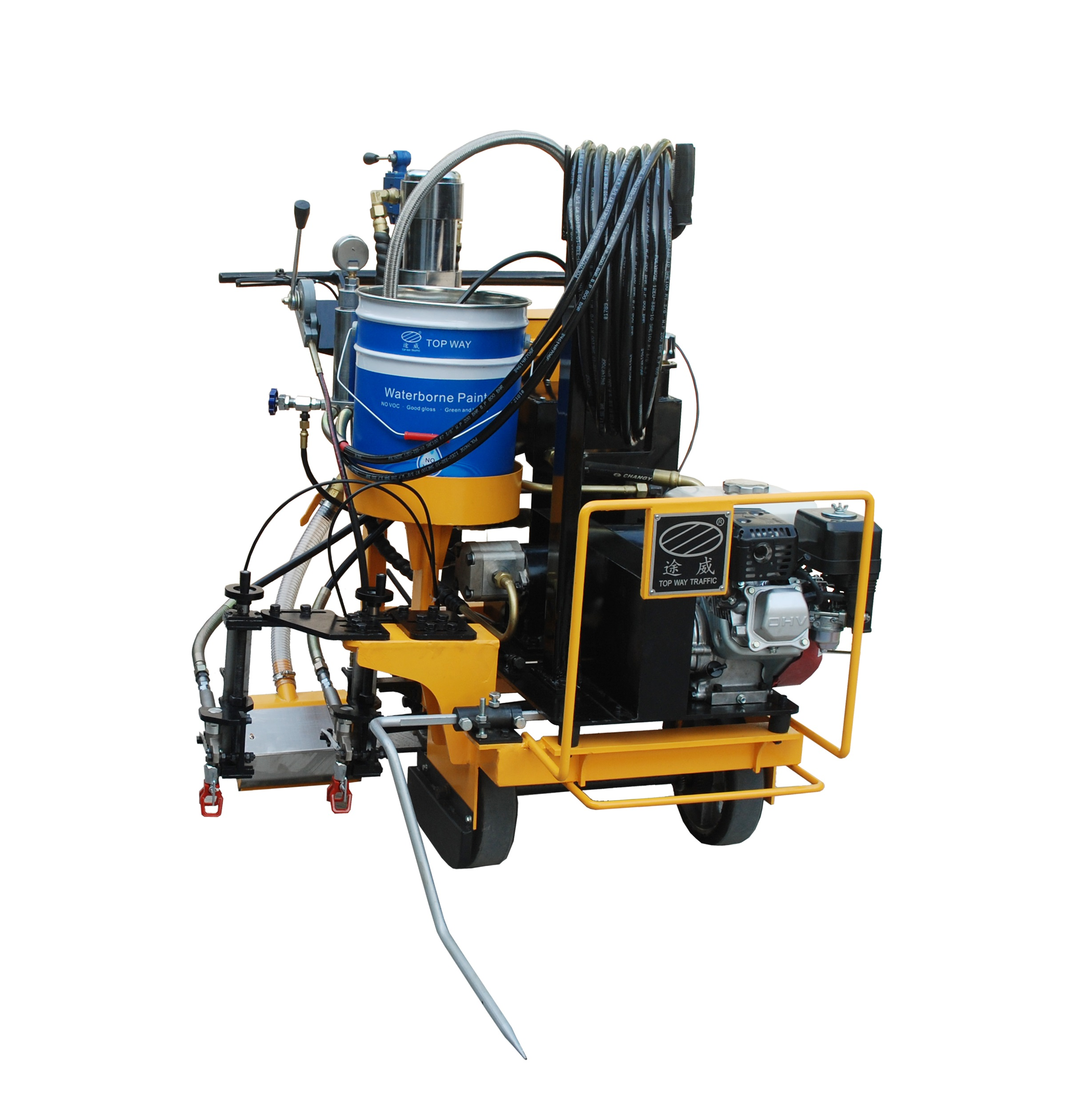 Cold spraying road marking machine Featured Image