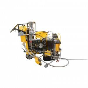 Cold spraying road marking machine