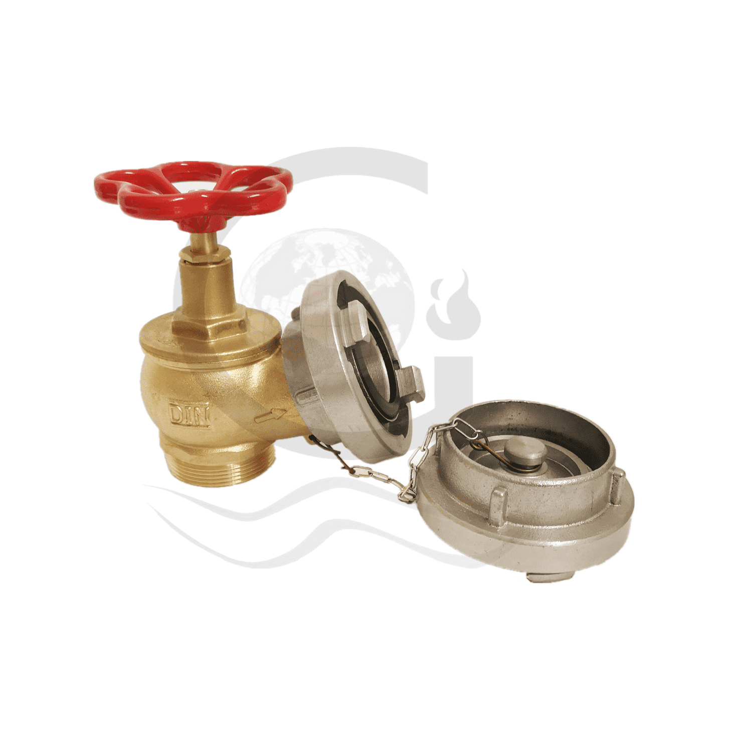 Din landing valve with storz adapter with cap Featured Image