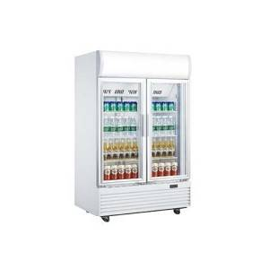 Upright Beverage Cooler Double Glass Door Display Fridge LG-1000BF