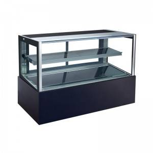Fan Cooling Tempered Glass Cake display Showcase