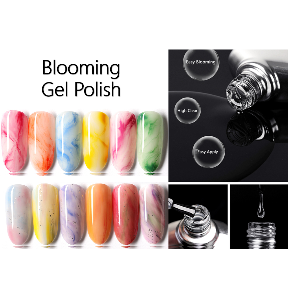 Blooming Gel nail polish blooming effection nail art blooming manicure blooming UV gel professional factory