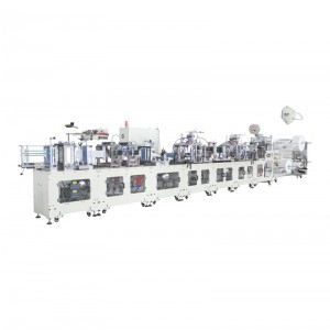 OK-260B Type Folded Ear Loop KN95 Mask High Speed Automatic Production Line