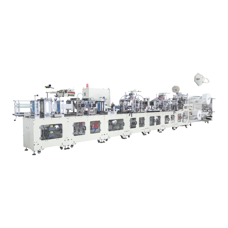 OK-260B Type Folded Ear Loop KN95 Mask High Speed Automatic Production Line Featured Image