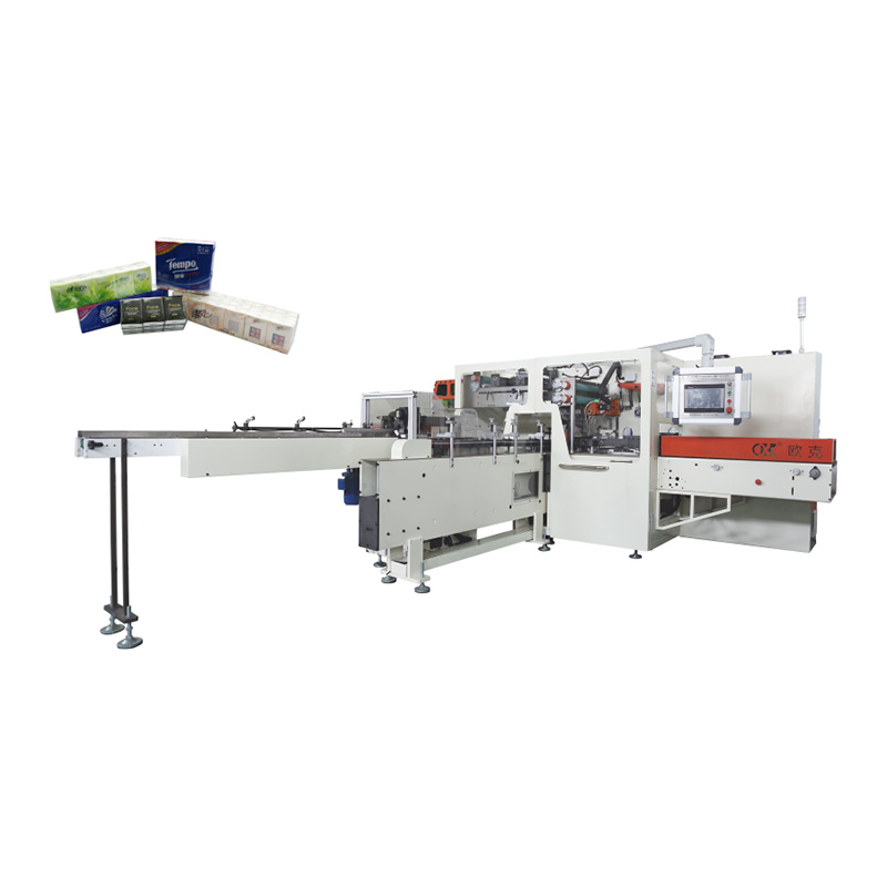 OK-602M Type Full-auto Handkerchief Tissue Bundling Packing Machine