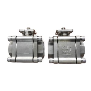3 pcs threaded 2000WOG ball valve