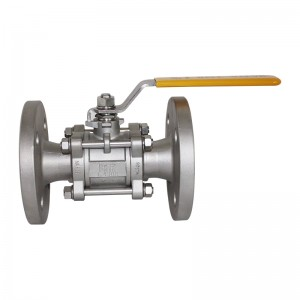 3pcs flange ball valve