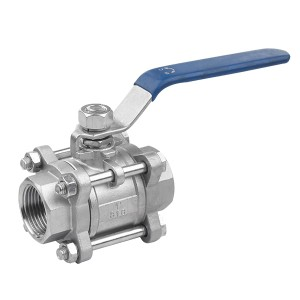 3 pcs threaded 1000WOG ball valve