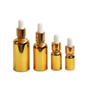 UV gold essential oil dropper bottle