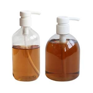 Manufacturer clear 500ml empty plastic pet hand sanitizer bottles