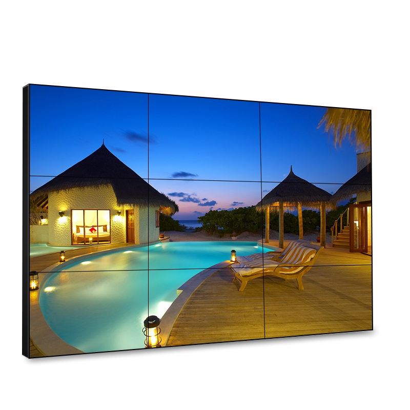 LCD Video wall screen,500cd/m2 brightness, 3.5mm splicing gap