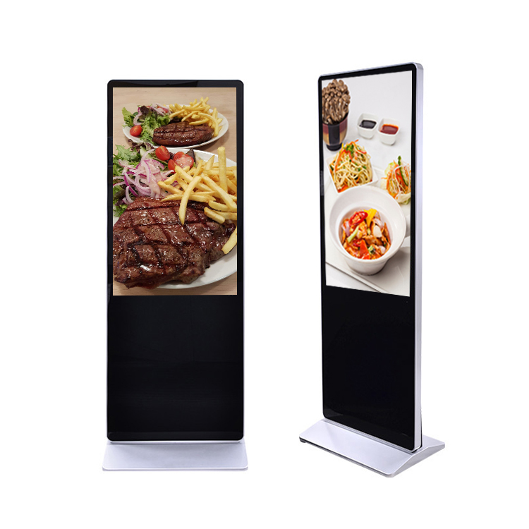 32/49/55/65/86 inch indoor and outdoor digital signage monitor and displays floor stand kiosk totem