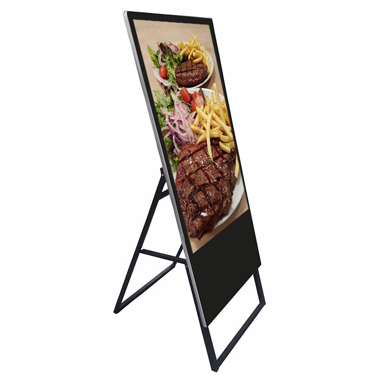32 inch e poster display stand portable lcd digital signage display
