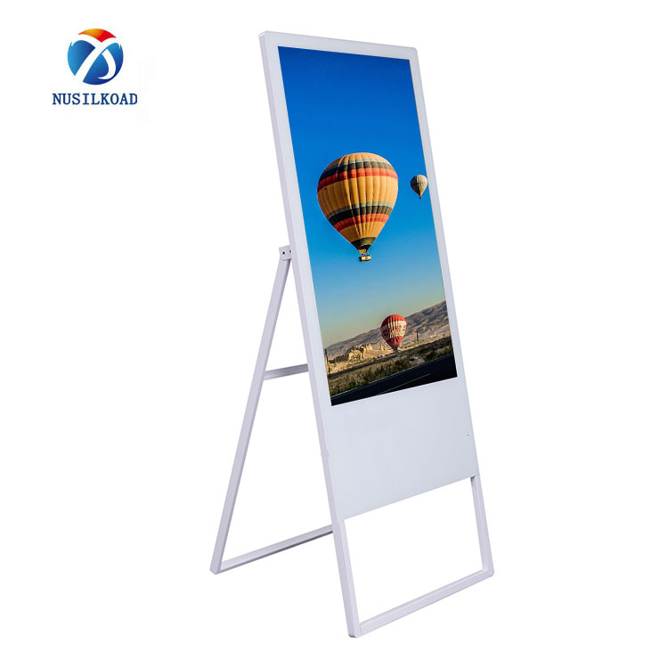 Waterproof Low-Power Consumption HD Image Quality Freestanding  Digital Poster Direct Sunlight Readable Screen