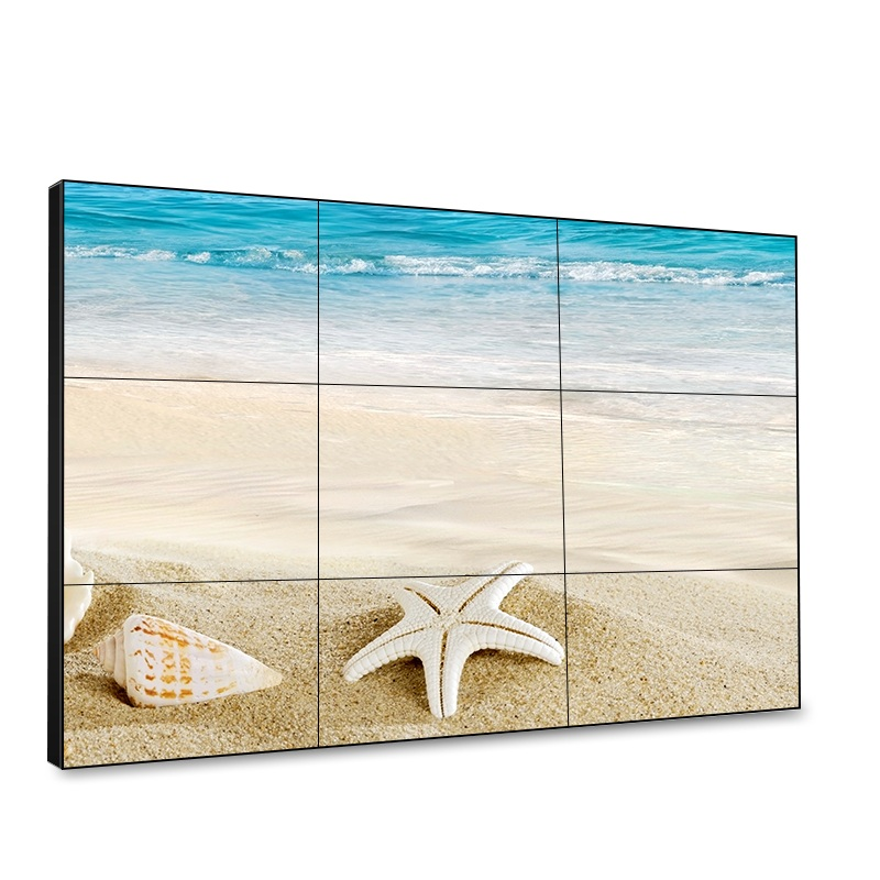 LCD advertising wall big TV Video Wall 55 inch with 1.8mm bezel 500 nits