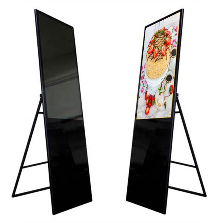 32/43 inch LCD portable digital poster signage advertising display, support Android/Windows for option Featured Image