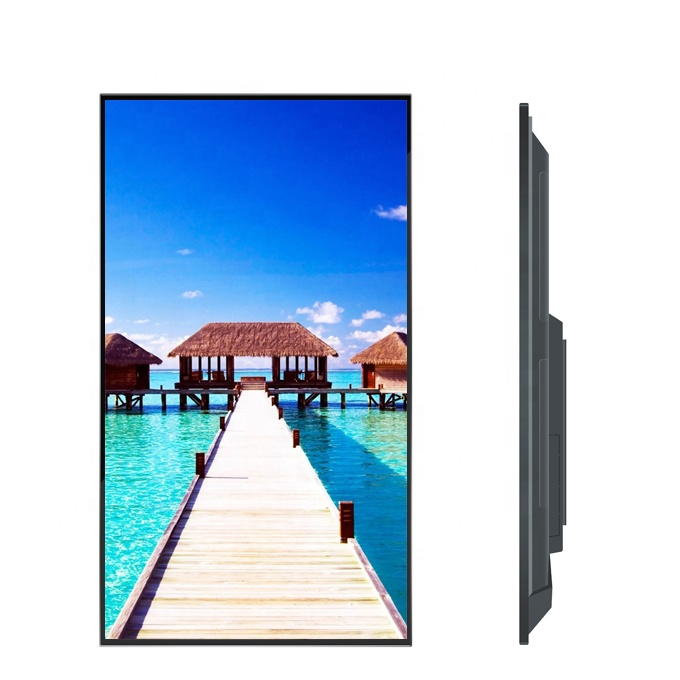 55 inch 4K android wall mounted jewellery digital signage TV LCD advertising display, support wifi/4G/LAN(Option)