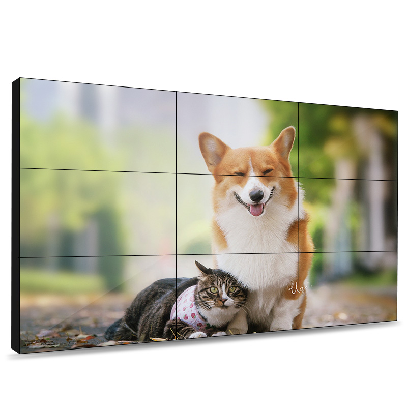 Bezel-less LCD Digital Video Wall System, LED-illuminated rear projection video wall Display