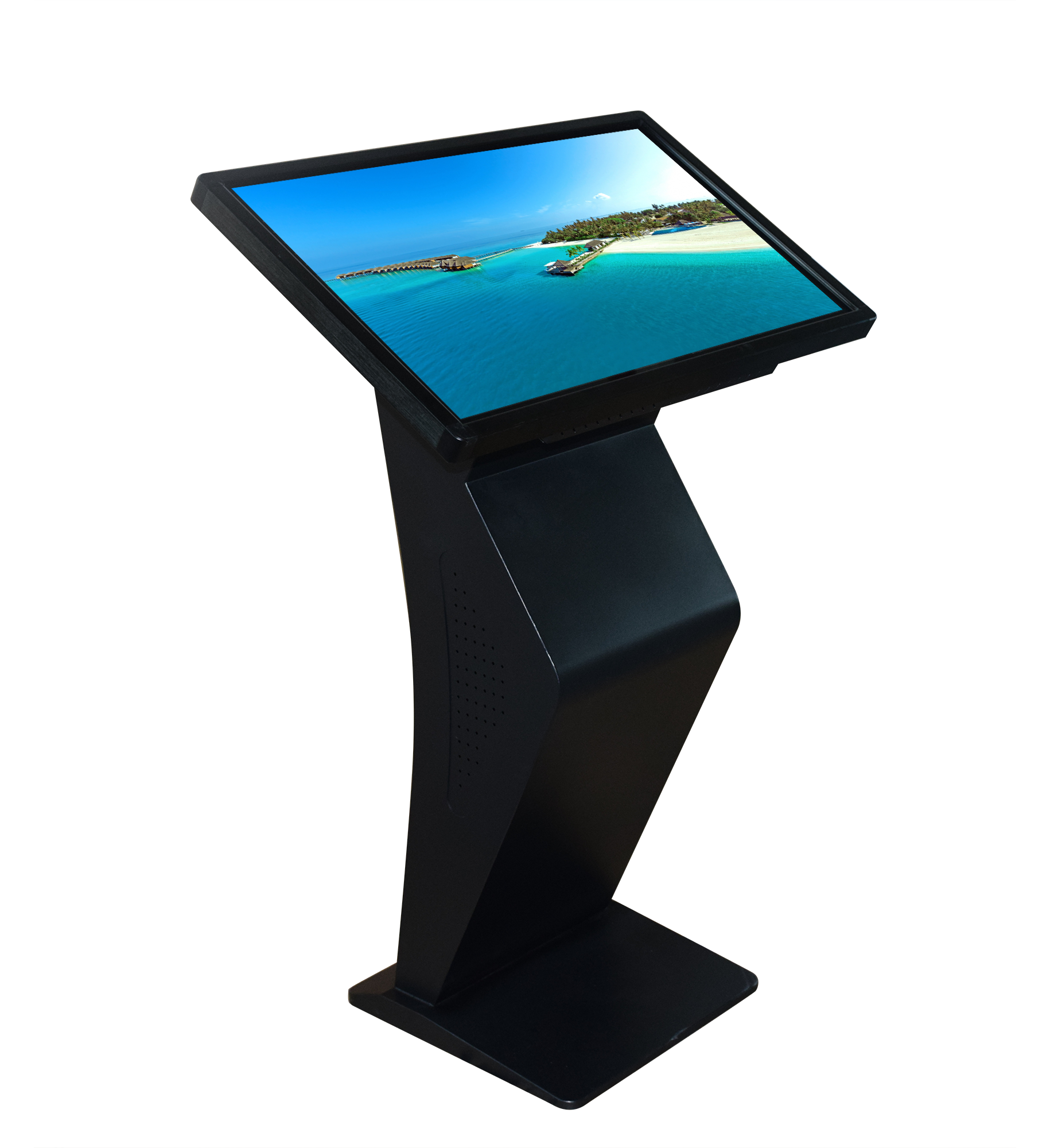 VESA mounting system interactive digital display touchscreen tablet customize external hardware such as printer, barcode