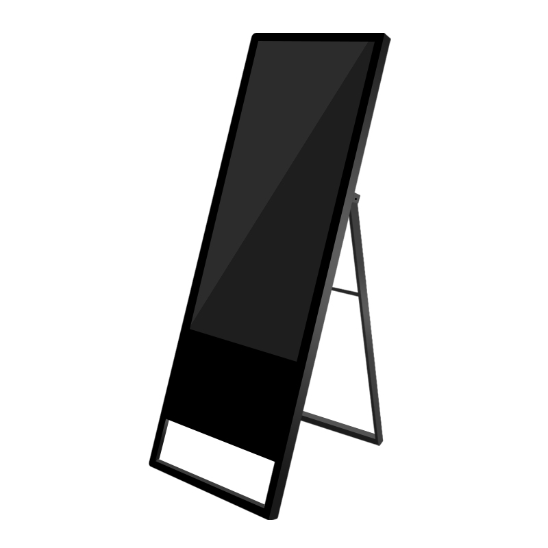 Stand Alone Multimedia Digital Banner Stand Advertising Poster With LCD Smart Split Screen For Outlets
