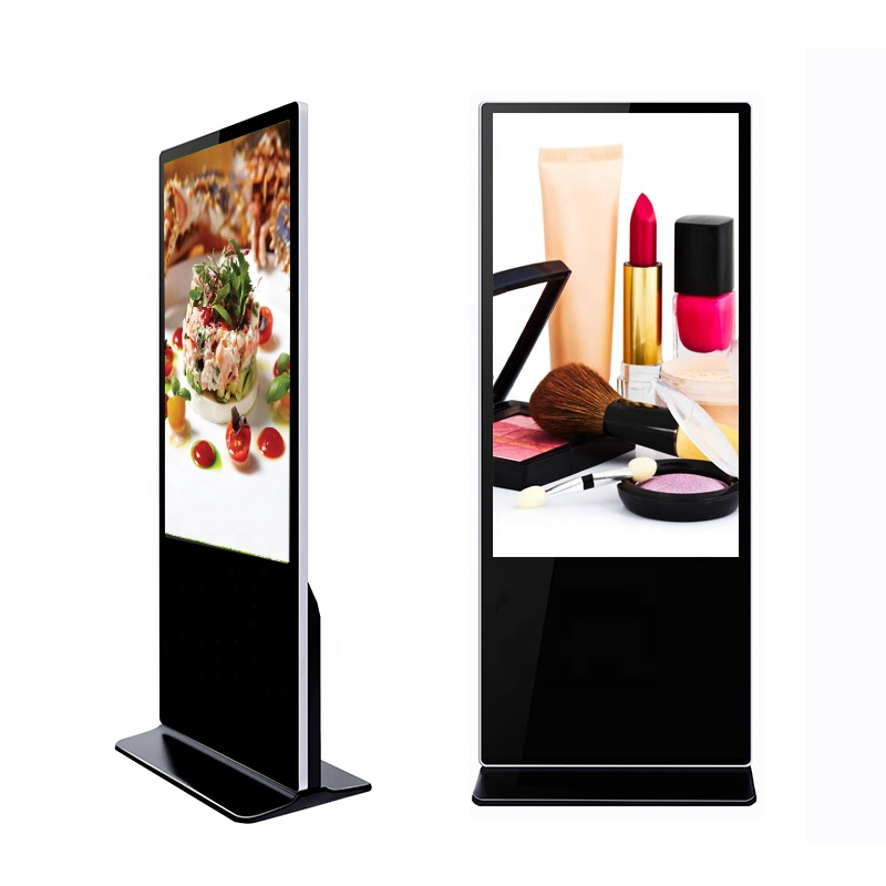 65 inch floor stand advertising vertical totem digital signage intelligent display, support 4G/wifi/LAN
